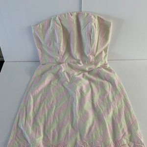 Lilly Pulitzer Strapless Seersucker Dress